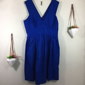 NWT J. Crew royal blue pleated dress - size 14T